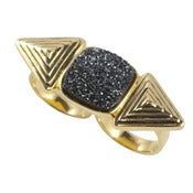 Image of Cleo Ring - Black Druzy
