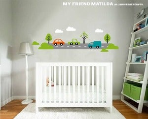 Image of Transport and Cars Wall Decal Sticker M010 Nursery Boys Bedroom
