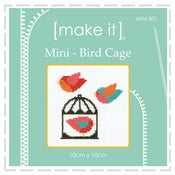 Image of Bird Cage - Mini Cross Stitch