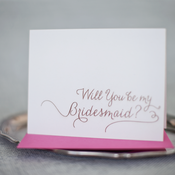 Image of will you be my bridesmaid?