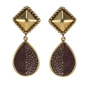 Image of Alex Earrings - Bordeaux