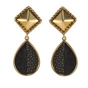 Image of Alex Earrings - Navy