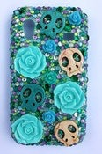 Image of Skull Roses Samsung Galaxy Ace Case