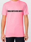 Image of Neon Pink Real Boys Kiss Boys