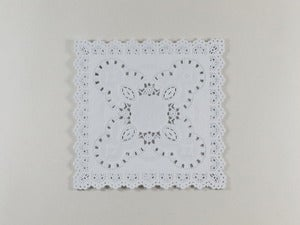 Image of Square White Paper Doilies
