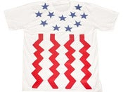 Image of LIV WEALTHY GOD BLESS AMERIKA T-SHIRT WHITE