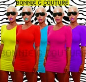 Image of AMBER Neon Dress- All Colors All Sizes-