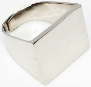 Image of RECTANGLE - White Bronze Ring