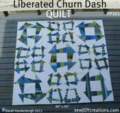 Image of Liberated Churn Dash QUILT