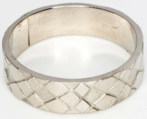 Image of Snake Skin - White Bronze Ring Band