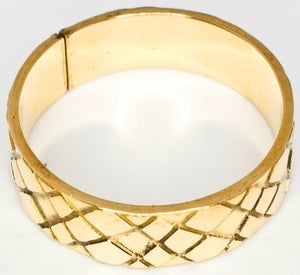 Image of Snake Skin - Brass Ring Band
