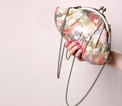 Image of Stardust Flowers Lizzy clutch - LAST ONE