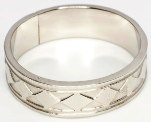 Image of Charriot Of The Gods - White Bronze Ring Band