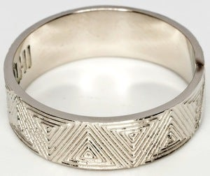 Image of Machu Picchu - White Bronze Ring Band
