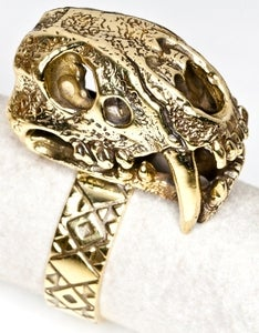 Image of Saber Tooth - Brass Ring