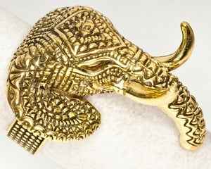 Image of Indian Elephant - Brass Ring