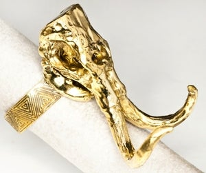Image of Woolly Mammoth Skull - Brass Ring