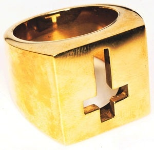 Image of Crucifix - Brass Ring