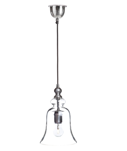 Image of Glass Bell Pendant Light