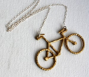 Image of Brass Bike Necklace