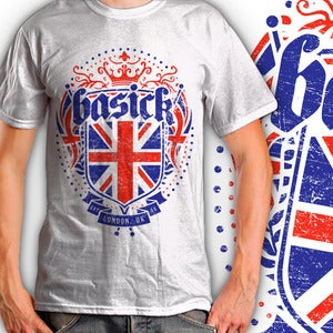 Image of BASICK RECORDS - Ltd Edition 'Basick Heritage' Tee