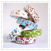 Image of Floral Printed Fabric Tapes