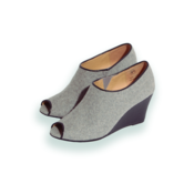 Image of Marais USA Wedge Bootie/ Grey &amp; Black --- WAS $140 -50% off
