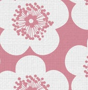Image of pop floral fabric sample
