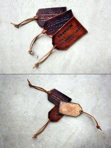 Image of Custom Leather Luggage Tags