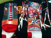 Image of NEW Team USA Galaxy tribute G34SwgSox designed Nike Elite Socks W/ Matching Laces (option)
