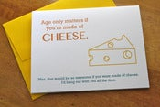 Image of Made of Cheese Birthday Card