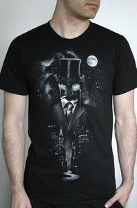Image of Night Watch - American Apparel Mens / Unisex T shirt on Black