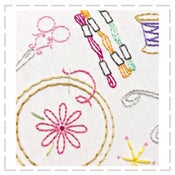 Image of Craftopia Embroidery Transfers - 20 different crafty icons per pack!