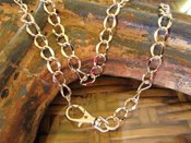 "Image of Pretty Silver chain with swivel clasp for hanging ""baubles"""