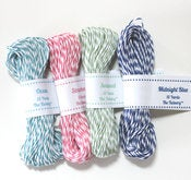 Image of Mini Sampler - Midnight Blue, Ocean, Seaweed & Strawberry - 15 yards of each color
