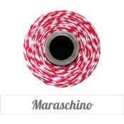 Image of Maraschino - Red &amp; White Baker's Twine