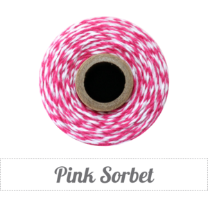 Image of Pink Sorbet - Pink & White Baker's Twine