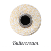 Image of Buttercream - Light Yellow &amp; White Baker's Twine