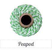 Image of Peapod - Green &amp; White Baker's Twine
