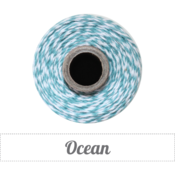 Image of Ocean - Deep Teal &amp; White Baker's Twine 