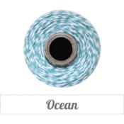 Image of Ocean - Deep Teal & White Baker's Twine