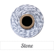 Image of Stone - Gray &amp; White Baker's Twine