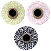 Image of Color Trio - 3 FULL SPOOLS - HONEYDEW, BLOSSOM & CHARCOAL