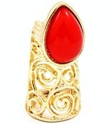 Image of Fab Nail Ring (Red or Pink)
