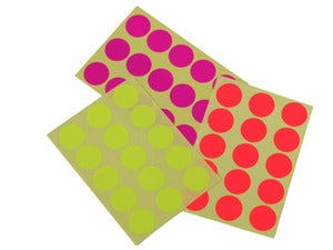 Image of Neon Round Stickers