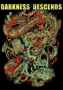 Image of Darkness Descends Dragon Skull T-Shirt