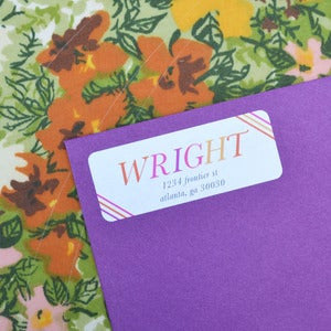Image of Rio Stripes Return Address Labels