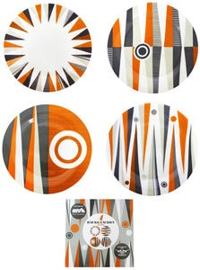 Image of Backgammon Porcelain - Tea Plates Set