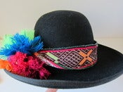 Image of Inca beaded rainbow hat band