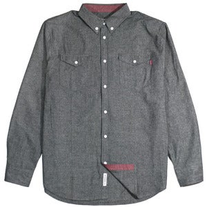 "Image of ""Reader"" Button Up - Chambray Black"